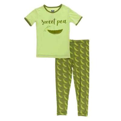KicKee Pants Sweet Pea Short Sleeves Pajama Set 2T