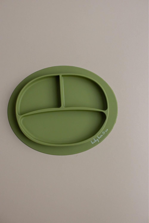 Three Hearts Green Silicone Plate