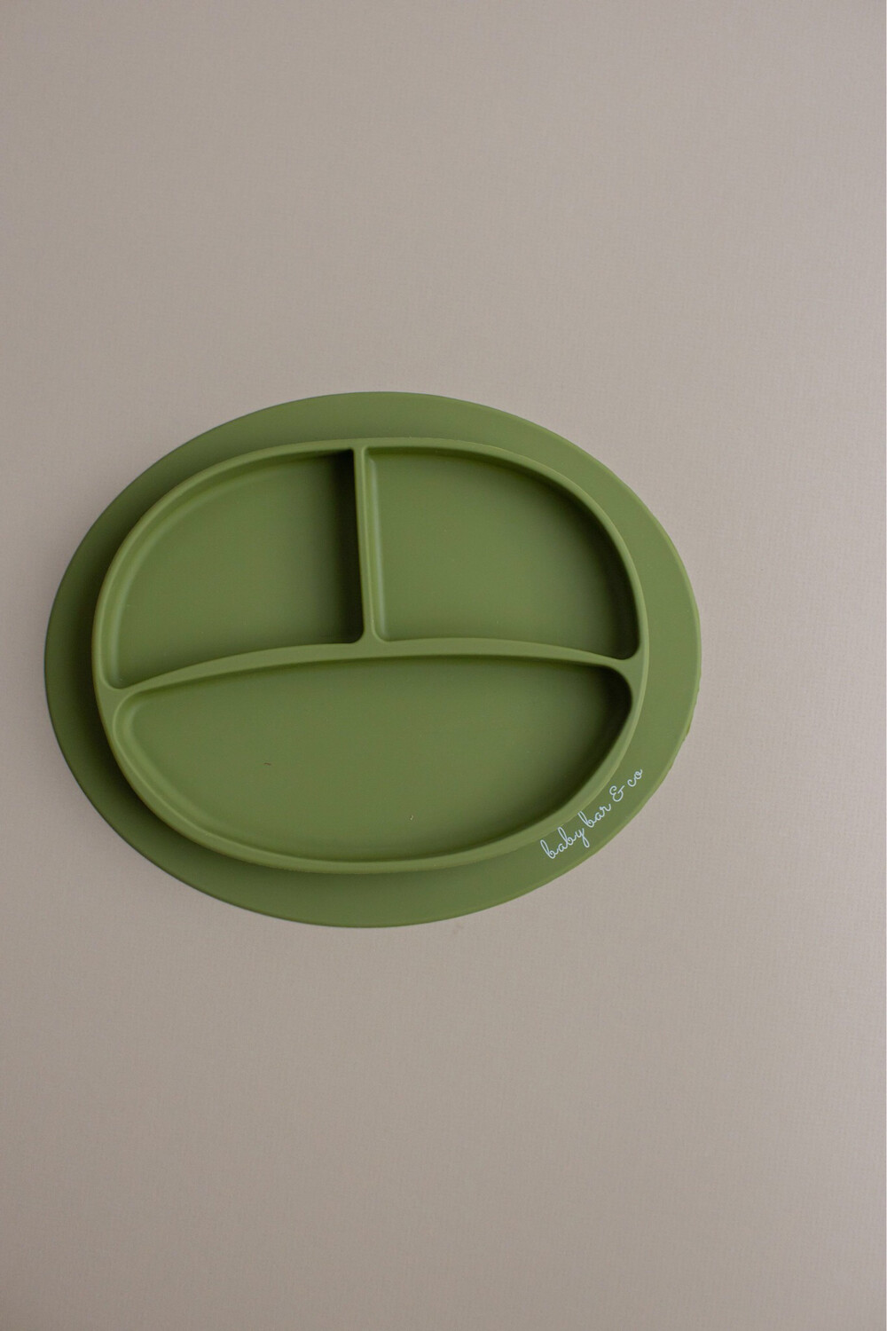 Three Hearts Green Silicone Bowl
