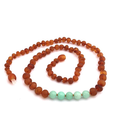 Momma Goose Genuine Baltic Amber Teething Necklace
