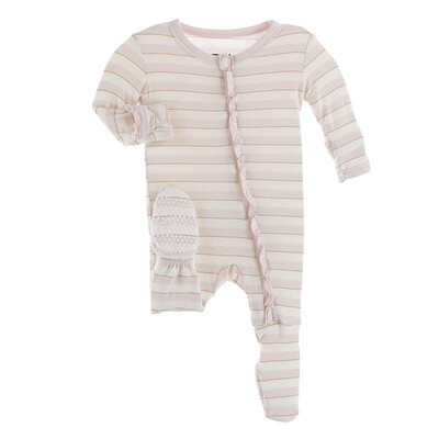 KicKee Pants Ruffled Footie 9-12M