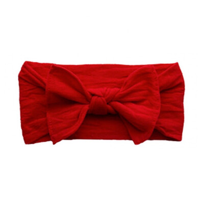 Baby Bling Head Wrap Bow Red
