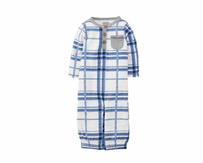 Mudpie Blue Plaid Gown