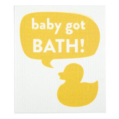 """Stephan Baby Eco-friendly Organic Washcloth """"Baby Got Bath!"""""""