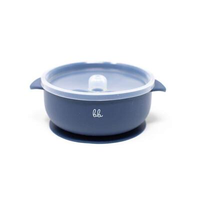 Three Hearts Silicone Navy Blue Bowl