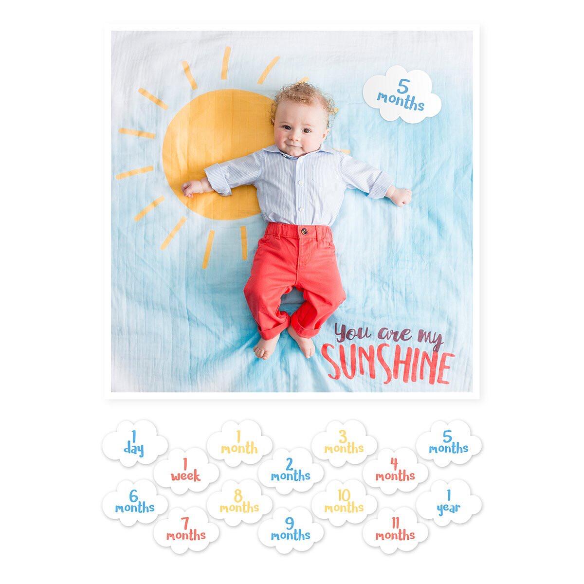 "Lulujo ""You Are My Sunshine"" Blanket/Cards Set"