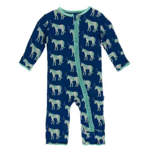 KicKee Pants Zippered Coverall 9-12M