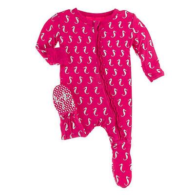 KicKee Pants Seahorse Pink Footie 6-9M