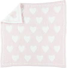 Barefoot Dreams Hearts Receiving Blanket