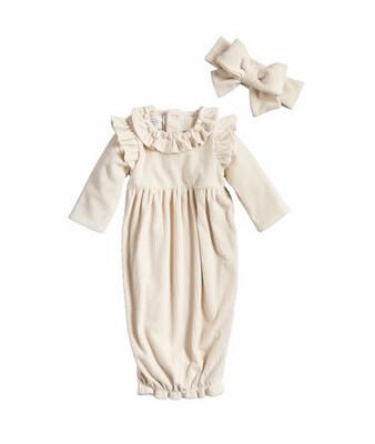 Mudpie Cream Dress & Bow