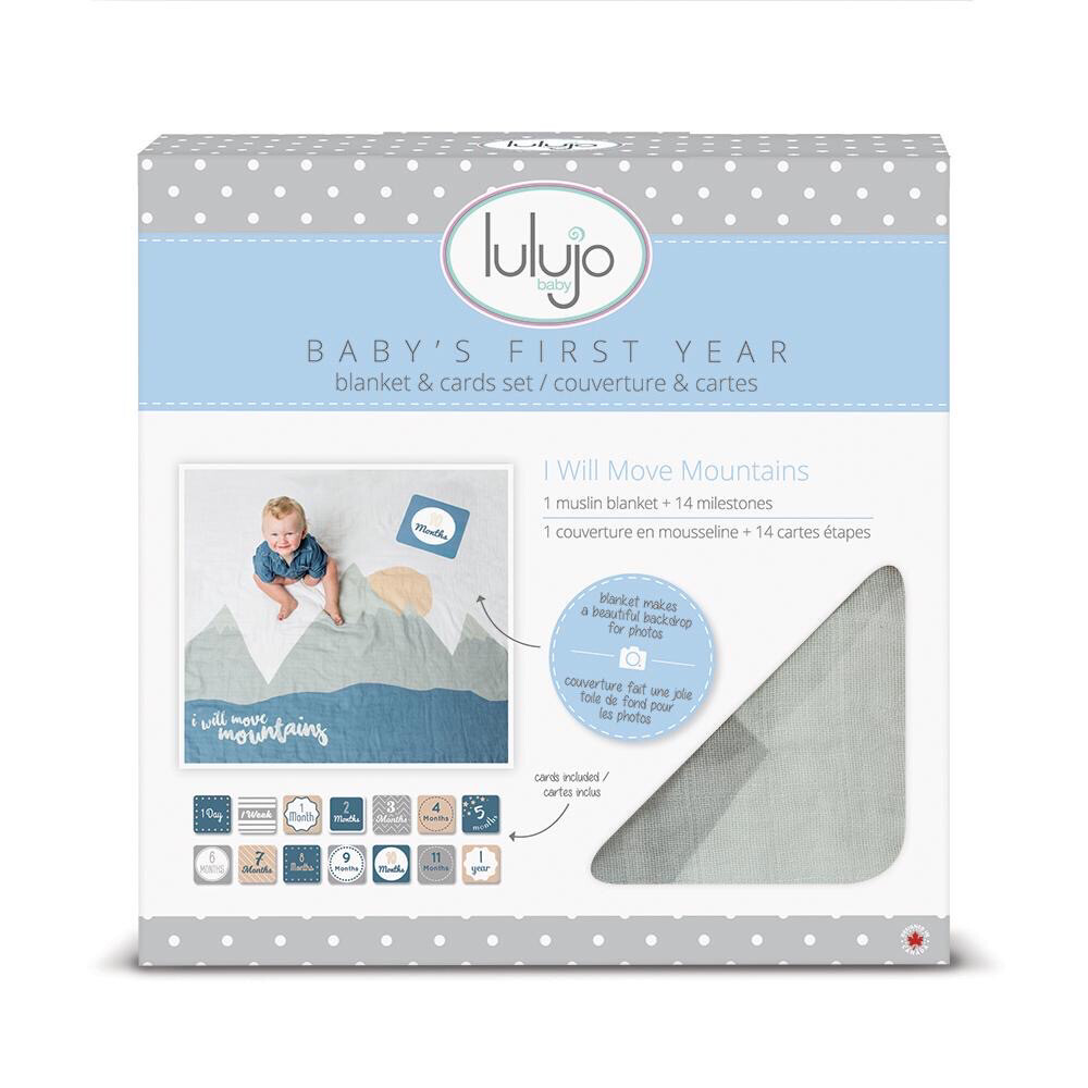 Lulujo Baby's First Year Blanket & Cards Set