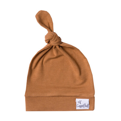 Copper Pearl Knotted Hat Camel