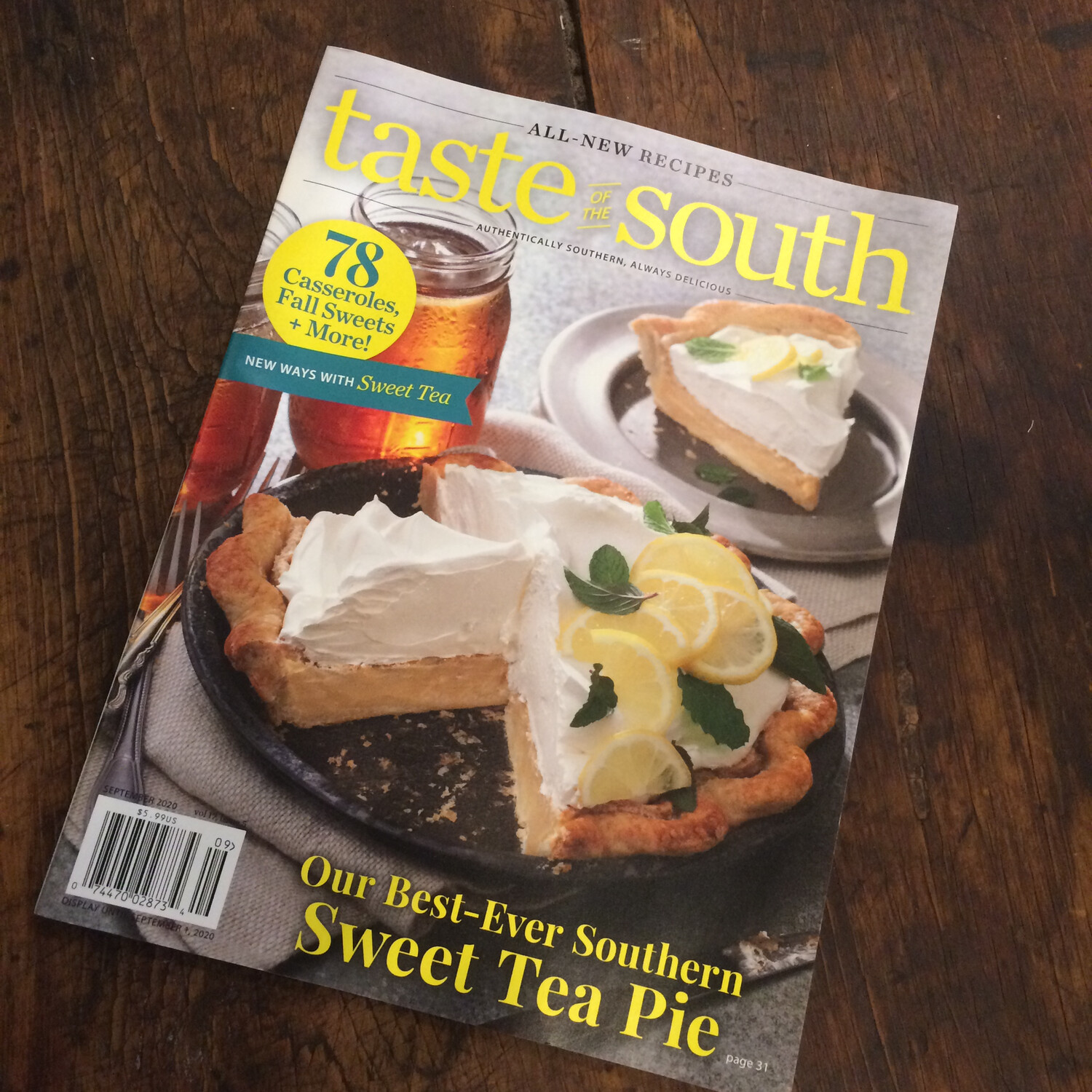 Taste of the South magazine / Sept Oct