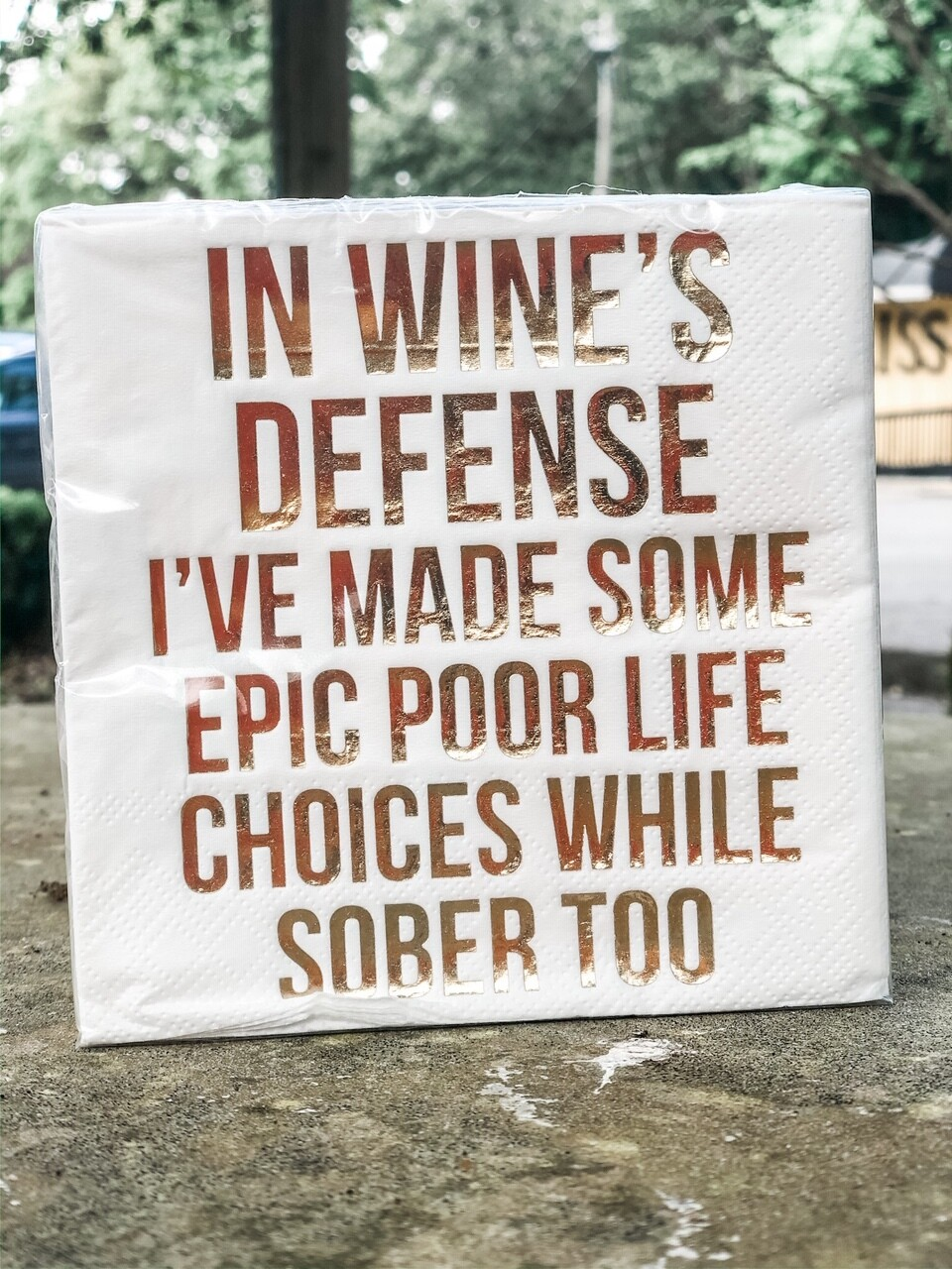 dthy In Wines Defense Napkins 20ct - 3ply
