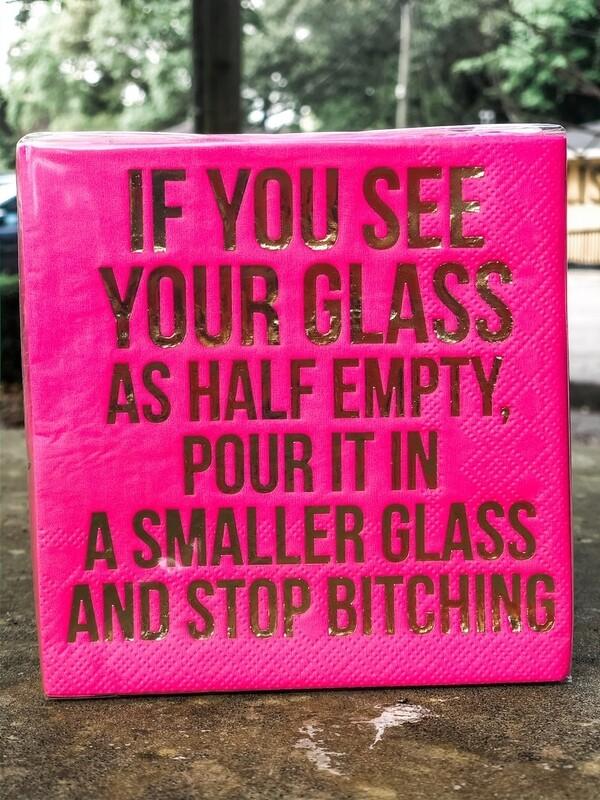 dthy Glass Half Empty Napkins 20ct - 3ply
