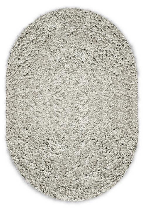 Shaggy grey oval