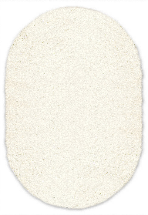 Shaggy white oval