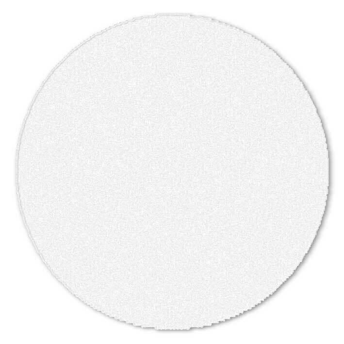 Shaggy white circle