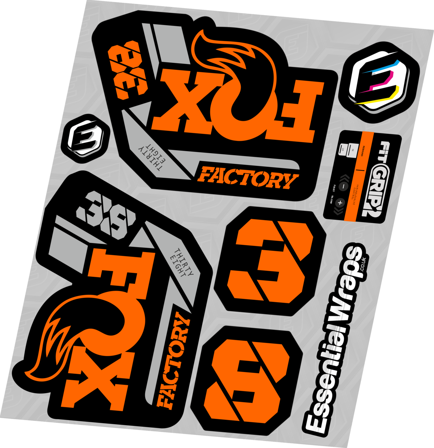 FOX 38 2021 Factory Forks Suspension Decals Sticker Set Adhesive Camo