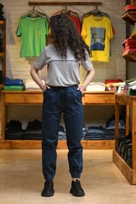 Baggy Fit Jeans Մուգ Կապույտ