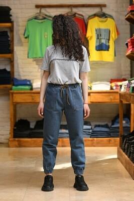 Baggy Fit Jeans Բաց Կապույտ