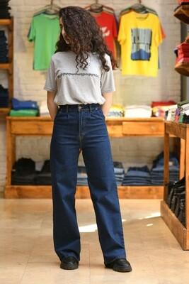 Wide Leg Jeans Մուգ Կապույտ