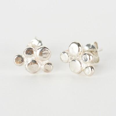 Earrings Stud Pebble Cluster