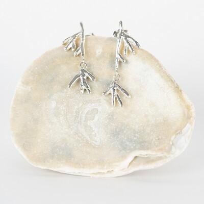 Earrings Stud Dangle Coral