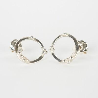 Earrings Stud Granulation