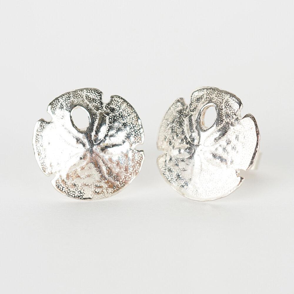 Earrings Stud Sand Dollar