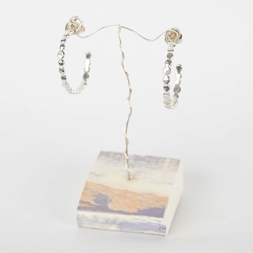 Earrings Hoops Pebble