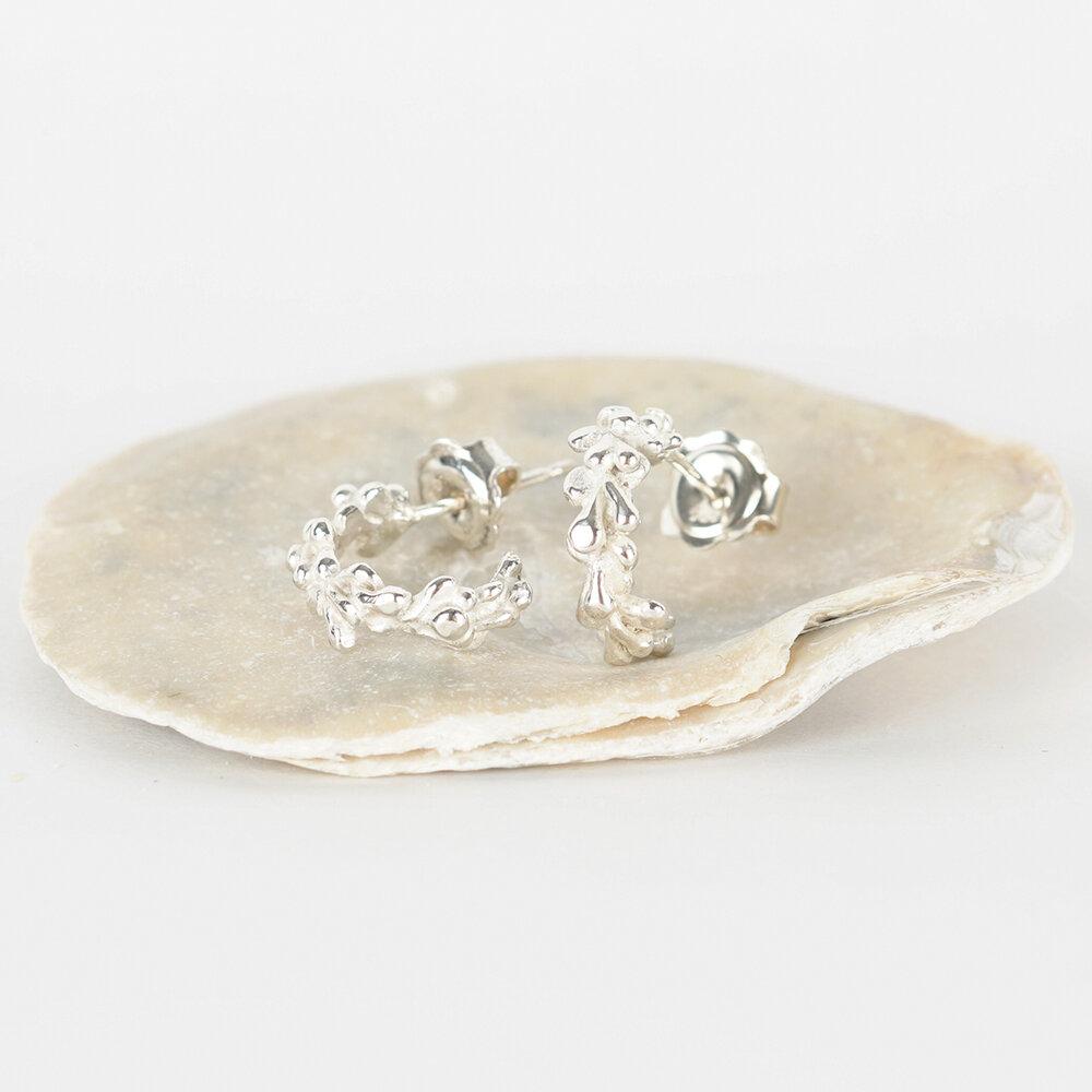 Earrings Hoops Seaweed