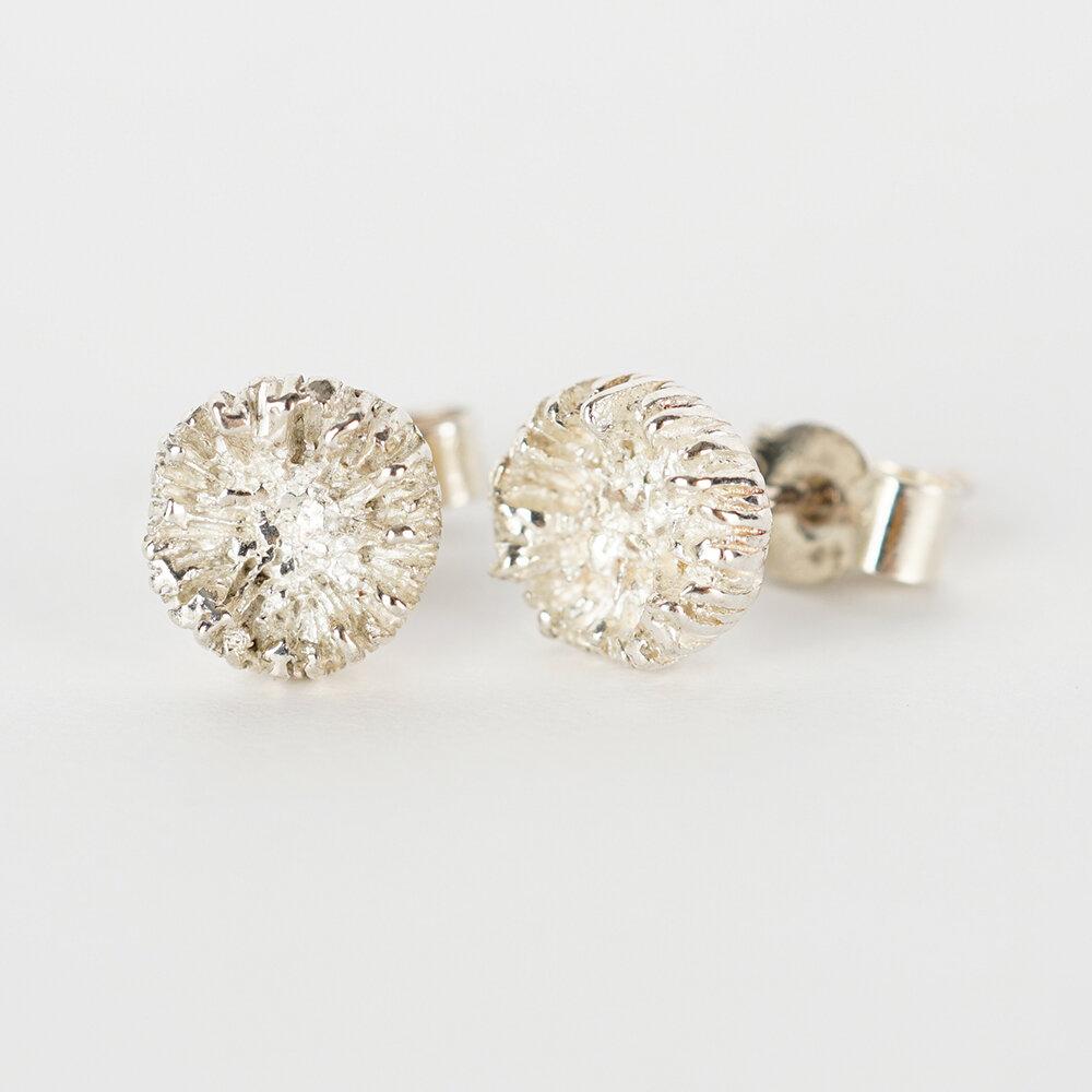 Earrings Stud Mushroom Coral
