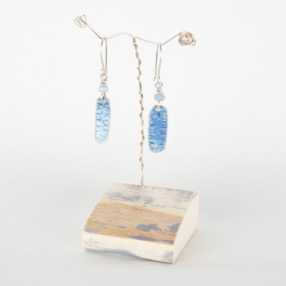 Earrings Drop Pale Blue