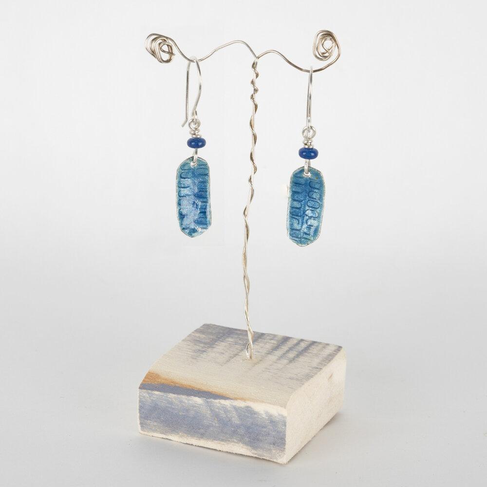 Earrings Drop Royal Blue