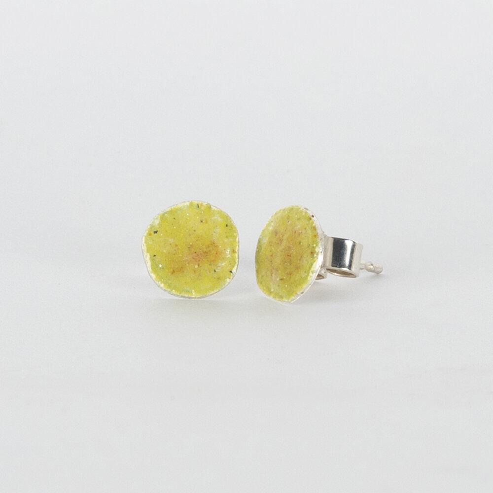 Earrings Stud Tiny Yellow