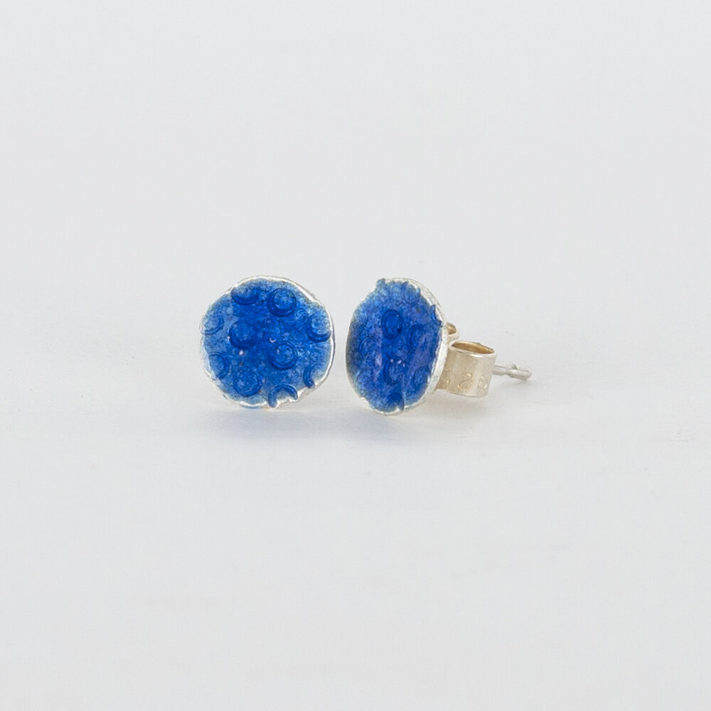 Earrings Stud Tiny Blue