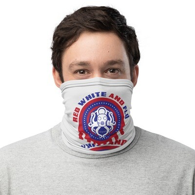 Red, White, and Flu Neck Gaiter