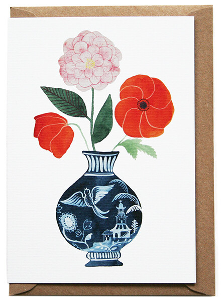 Eleanor Percival Bespoke Card & Gift Message (Poppies)