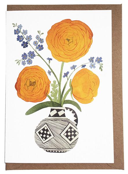 Eleanor Percival Bespoke Card & Gift Message (Ranunculus)