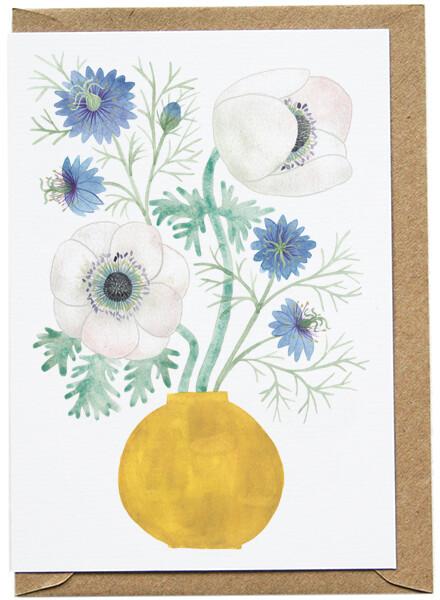 Eleanor Percival Bespoke Card & Gift Message (Anemone)