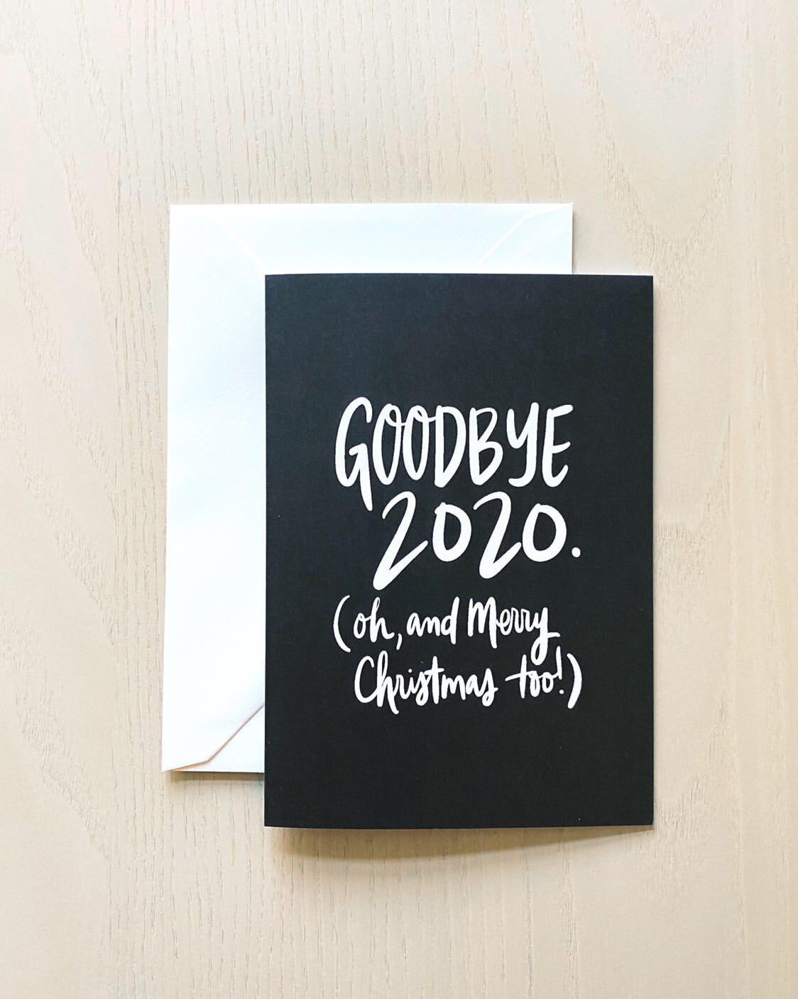Tammijean Triplett Handlettered 2020 Card (Four Pack)
