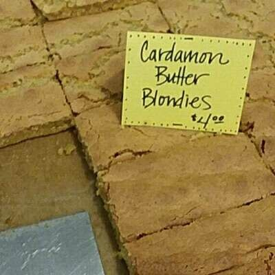 Cardamon Butter Blondies, gluten free, 2 pk