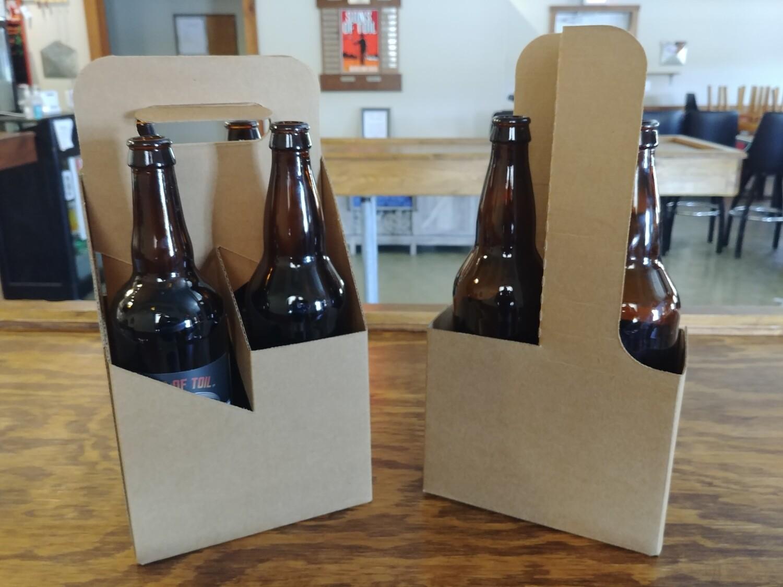 14-Re-Usable Cardboard 2&4 Bottle Carrier