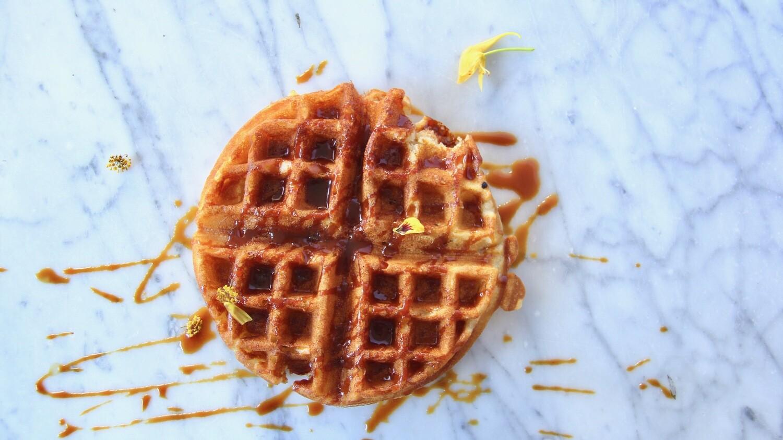Whiskey Caramel Waffle