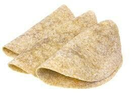 """12"""" Whole Wheat Tortilla Wraps - Pack of 10"""
