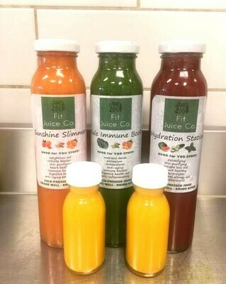 Immunity Pack (3 Juices, 2 Shots)