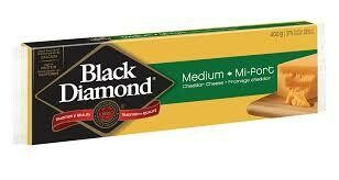 Black Diamond Medium Cheddar Cheese Bar - 400g