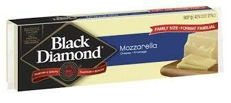 Black Diamond Mozzarella Cheese Bar - 400g