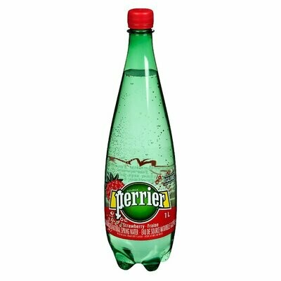 Perrier Sparkling Mineral Water Strawberry - 1L